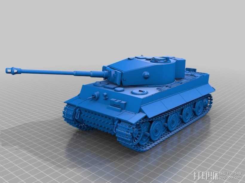 虎式重型坦克 3D打印模型渲染图