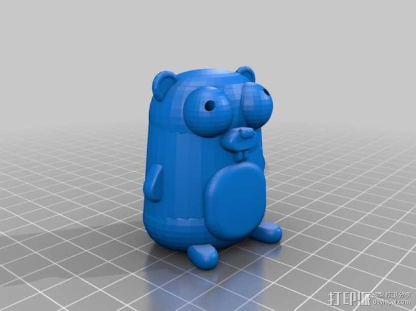 囊地鼠 吉祥物 3D打印模型渲染图