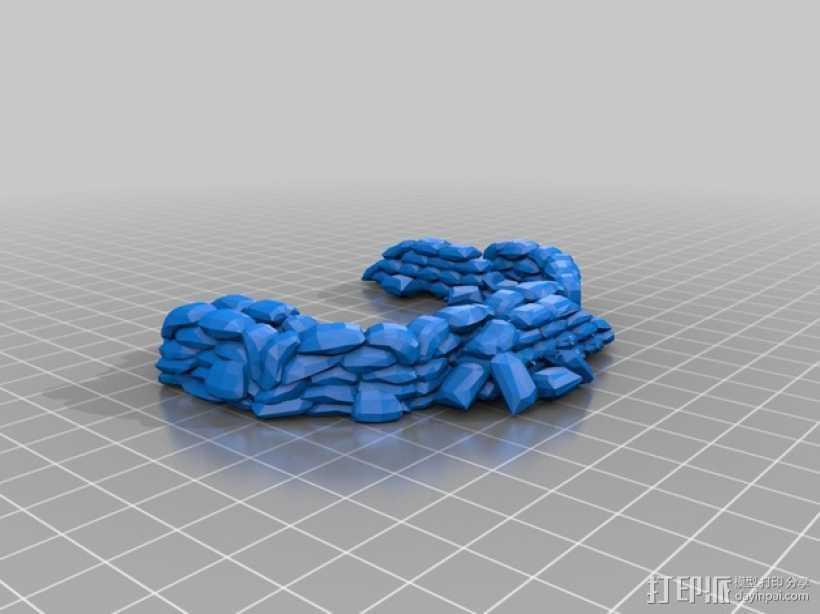 沙袋堆 沙堆 3D打印模型渲染图