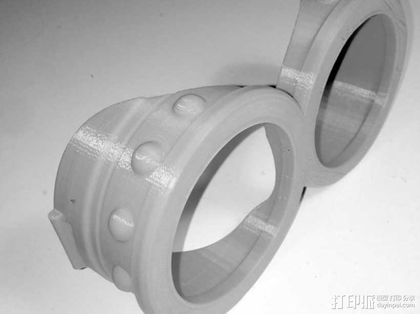 小黄人护目镜 3D打印模型渲染图