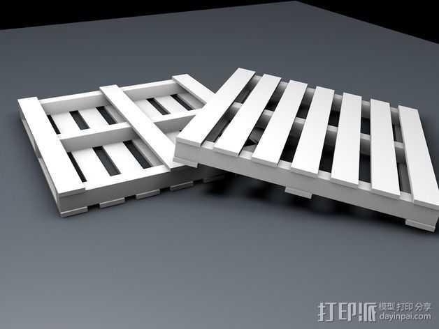船板 遥控车底盘 3D打印模型渲染图