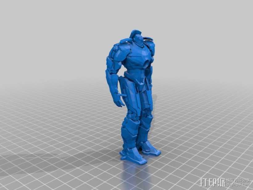 吉普赛人机器人 3D打印模型渲染图