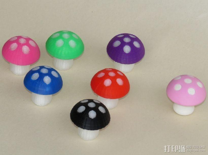 蘑菇 3D打印模型渲染图