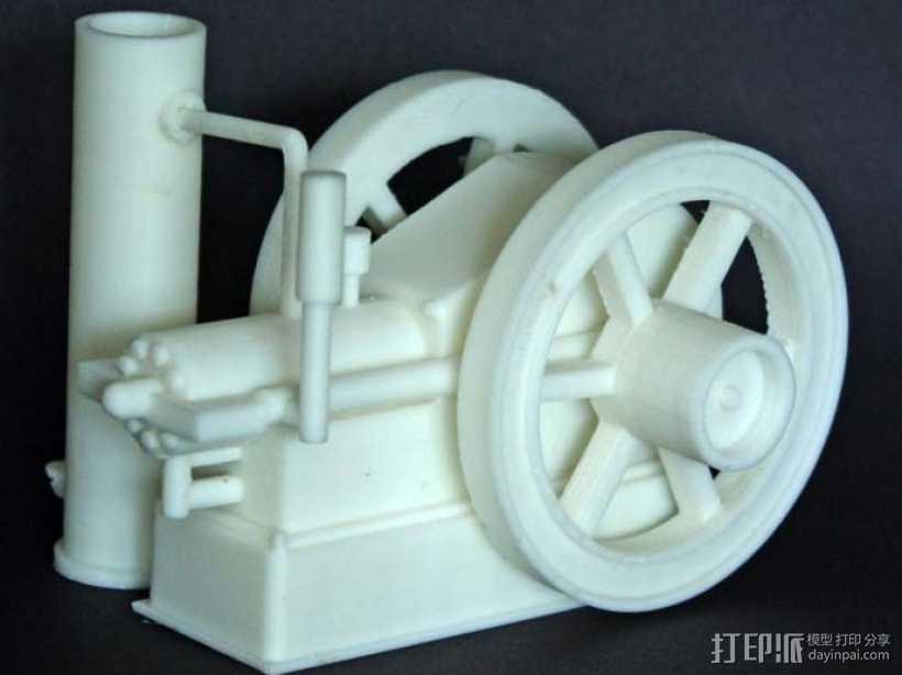 Hit and Miss发动机 3D打印模型渲染图