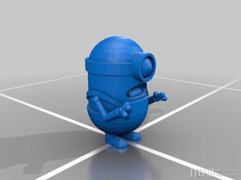 单眼小黄人 3D打印模型渲染图