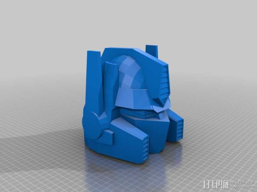 擎天柱 头模型 3D打印模型渲染图