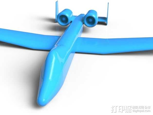 A10攻击机 3D打印模型渲染图