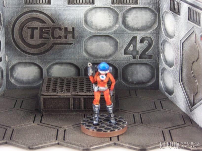 女宇航员 玩偶 3D打印模型渲染图