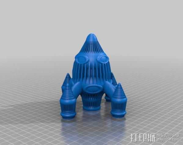 Retro 033四足火箭 3D打印模型渲染图