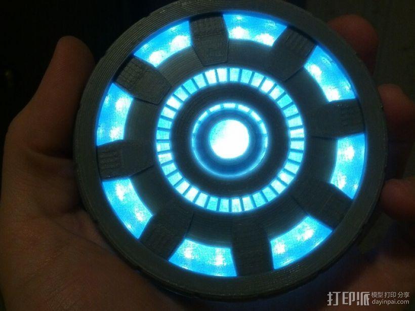 钢铁侠能量环 3D打印模型渲染图