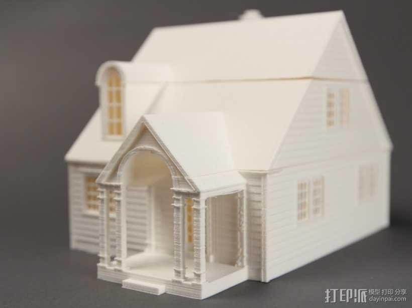 Lorain洛雷恩的房子 3D打印模型渲染图