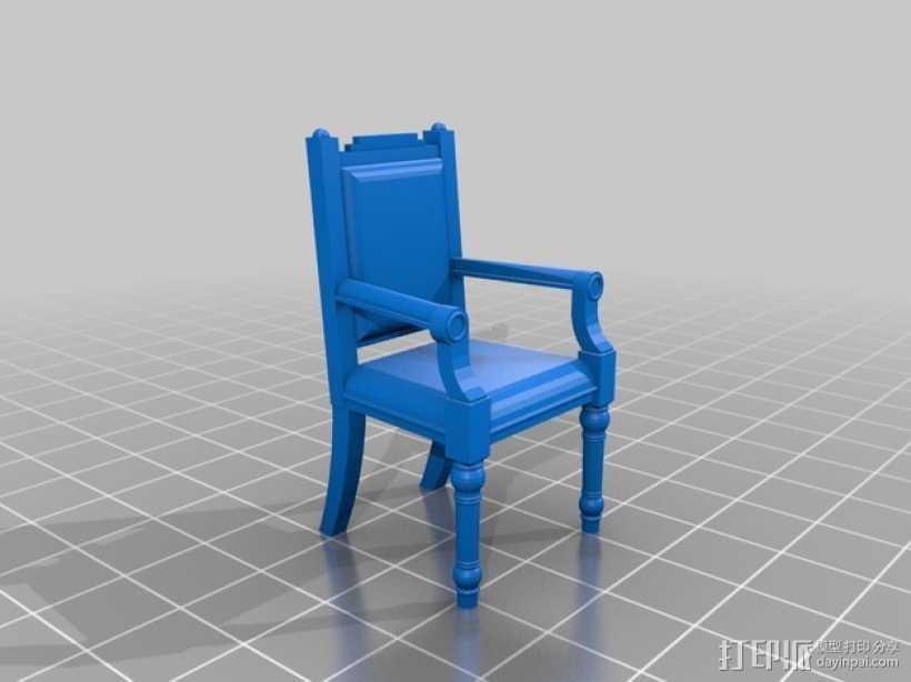 靠背椅 3D打印模型渲染图
