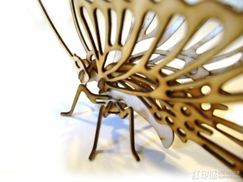拼组蝴蝶 3D打印模型渲染图
