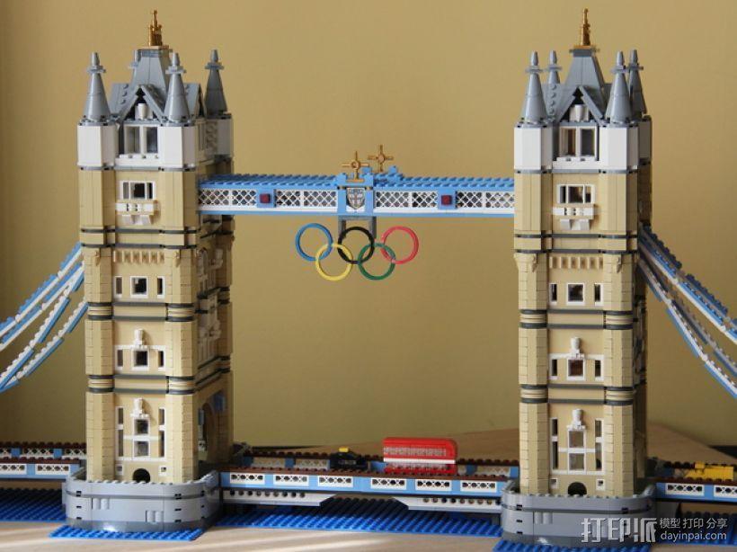 奥林匹克五环 3D打印模型渲染图