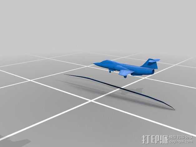 星际战斗机 3D打印模型渲染图