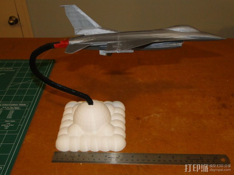 F16 飞机支架 3D打印模型渲染图