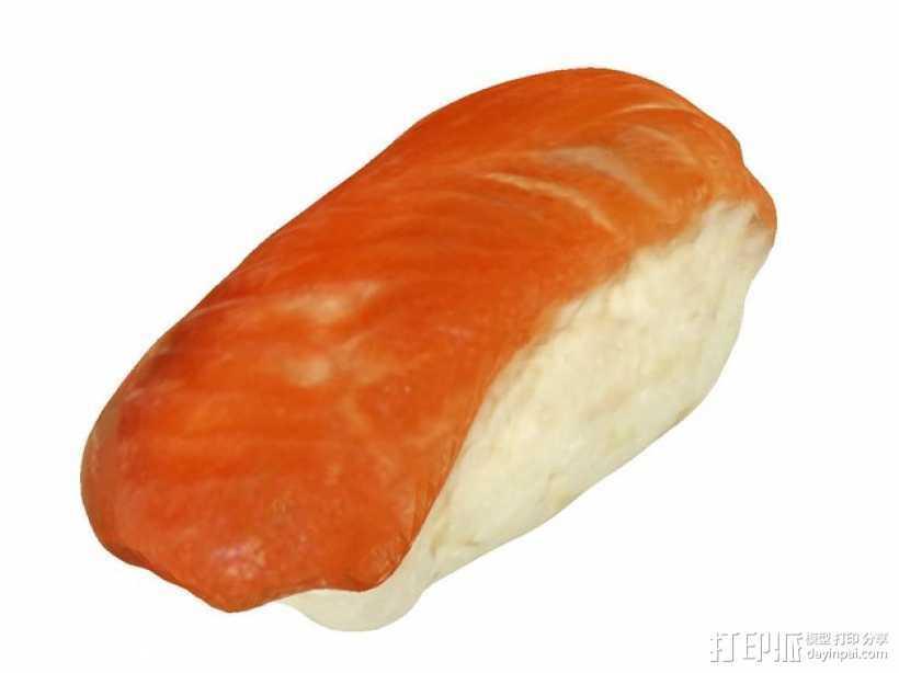 三文鱼寿司 3D打印模型渲染图