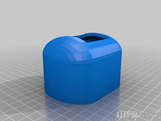 PKE Meter遥控钥匙保护套 3D打印模型渲染图