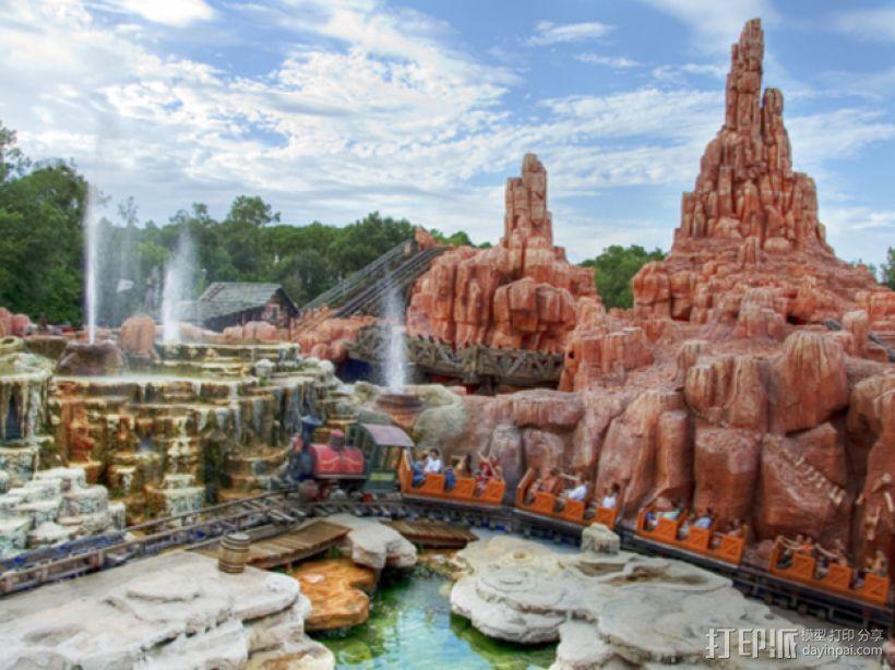 迪士尼乐园巨雷山模型 3D打印模型渲染图