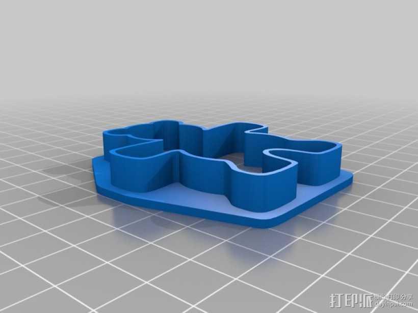 泰迪熊饼干切割刀 3D打印模型渲染图