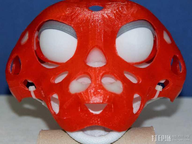 玩偶头部支撑架 3D打印模型渲染图