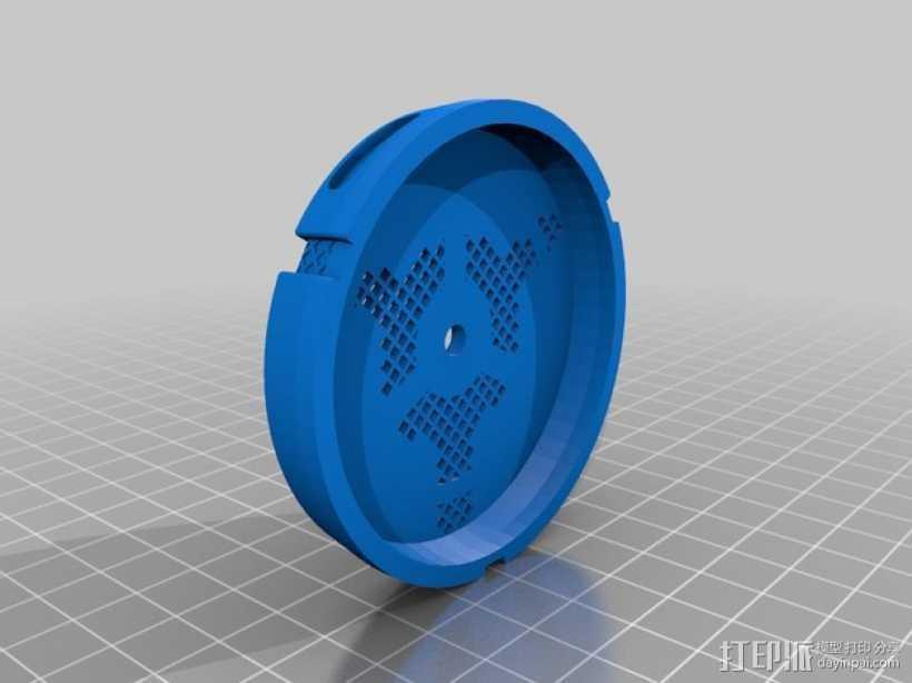防毒面具过滤罩 3D打印模型渲染图