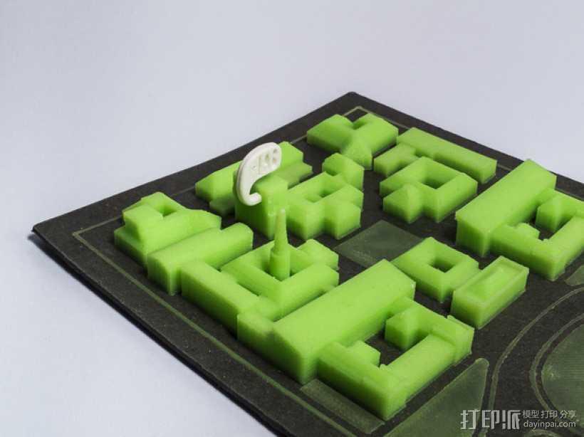 米兰理工学院地图 3D打印模型渲染图