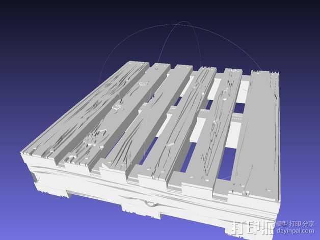 框条式托盘 货架 3D打印模型渲染图