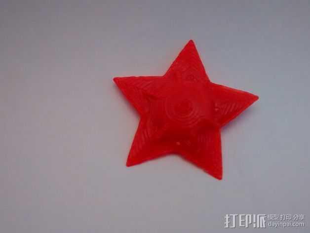 宝石海星 3D打印模型渲染图