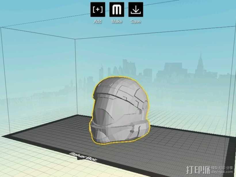 地狱伞兵头盔 3D打印模型渲染图