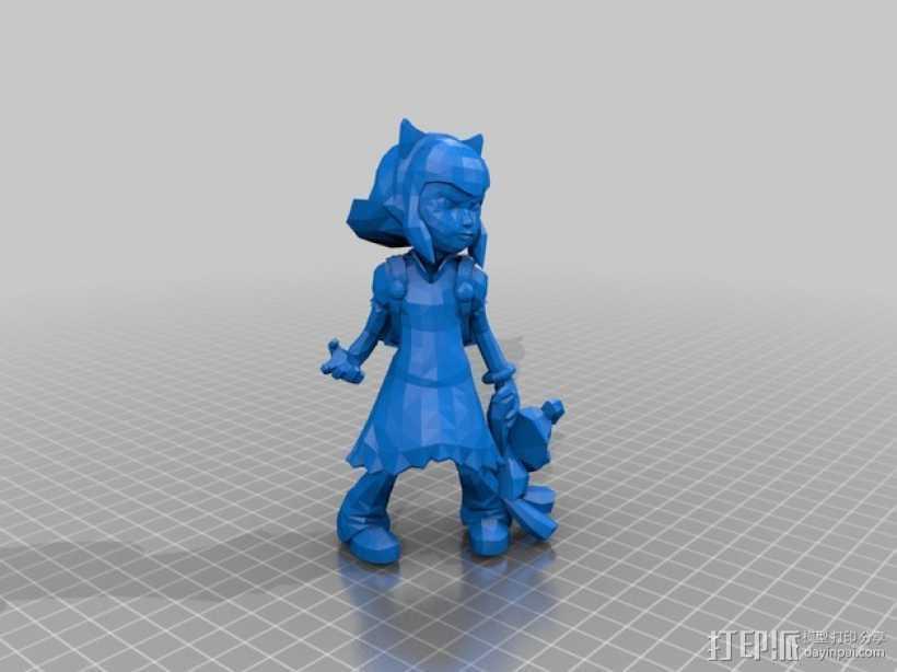 黑暗之女 安妮 3D打印模型渲染图