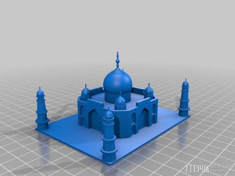 泰姬陵 3D打印模型渲染图