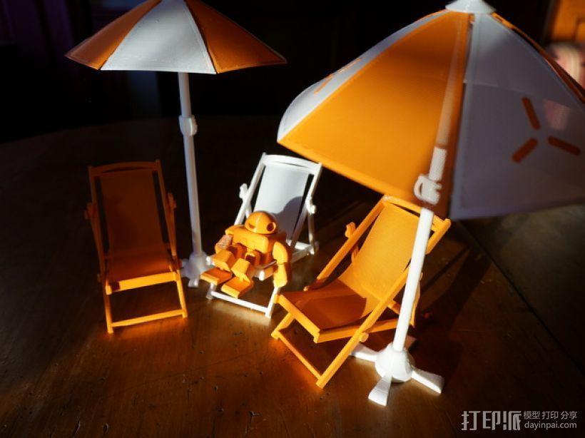 沙滩椅 机器人 3D打印模型渲染图