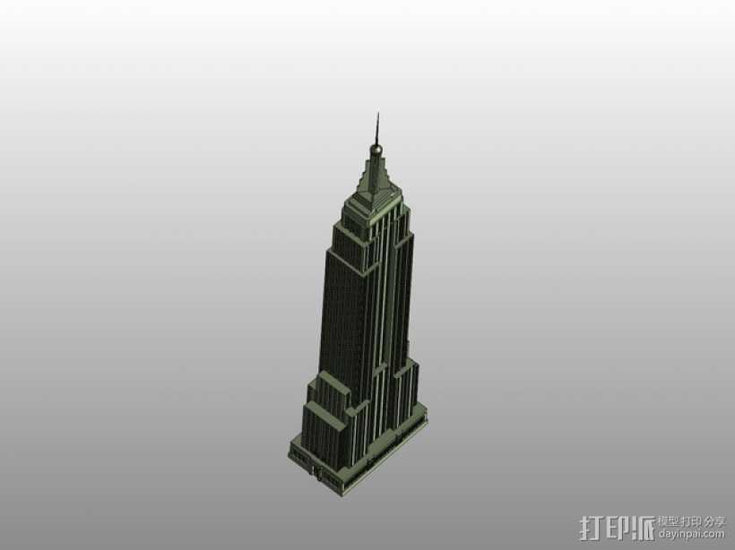 帝国大厦 3D打印模型渲染图