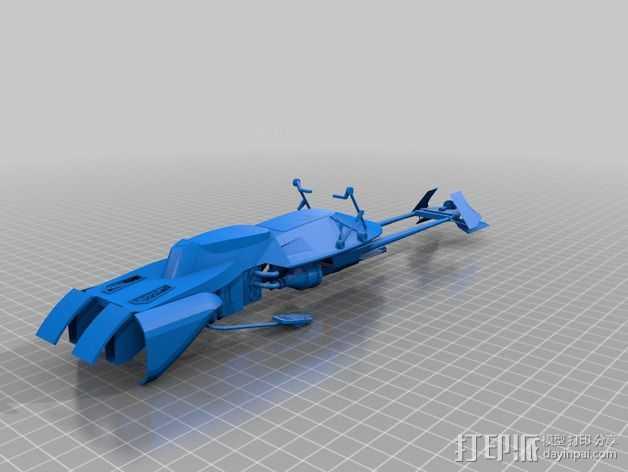 摩托艇 3D打印模型渲染图