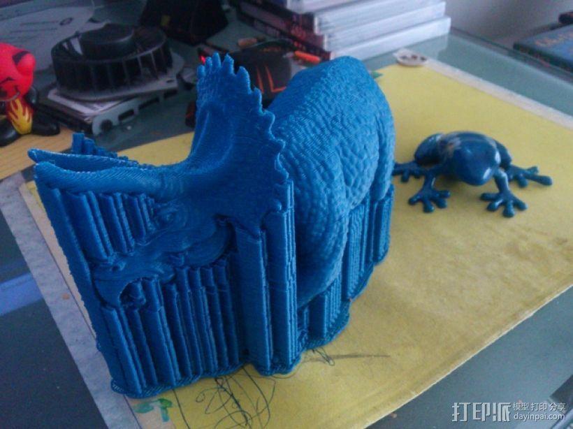 三角龙恐龙 3D打印模型渲染图