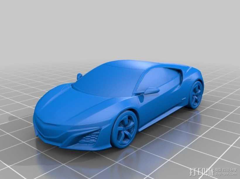 本田汽车 3D打印模型渲染图