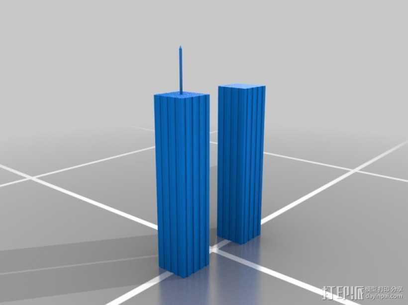 世贸大楼 双子塔 3D打印模型渲染图