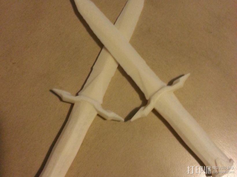 上古卷轴 铁匕首 3D打印模型渲染图