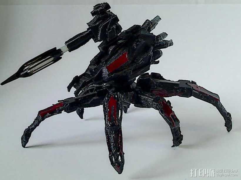 Cybran蜘蛛机器人 3D打印模型渲染图