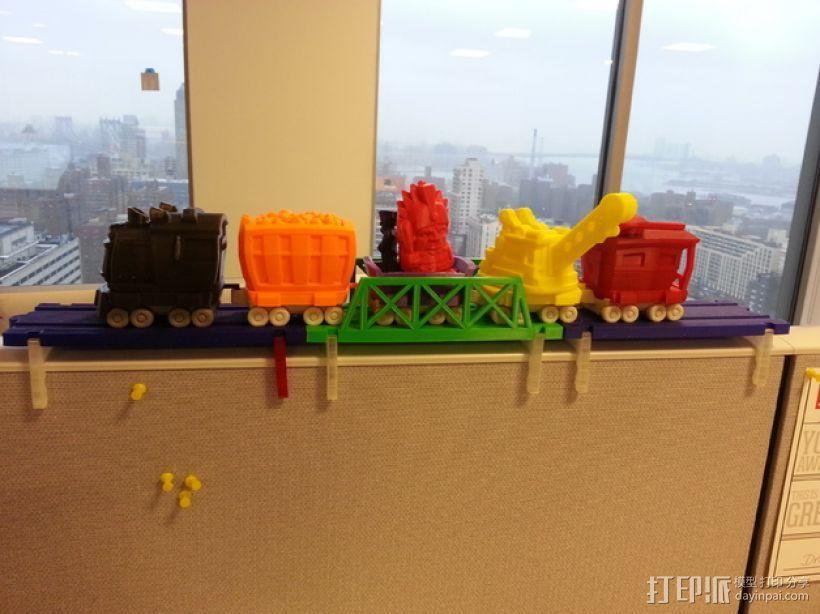 积木火车轨道 3D打印模型渲染图