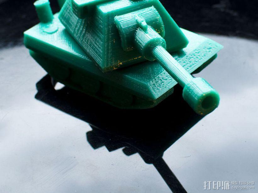 E100重型坦克 3D打印模型渲染图