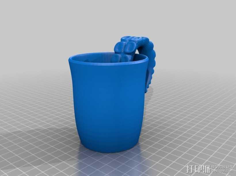 克苏鲁杯 马克杯 3D打印模型渲染图