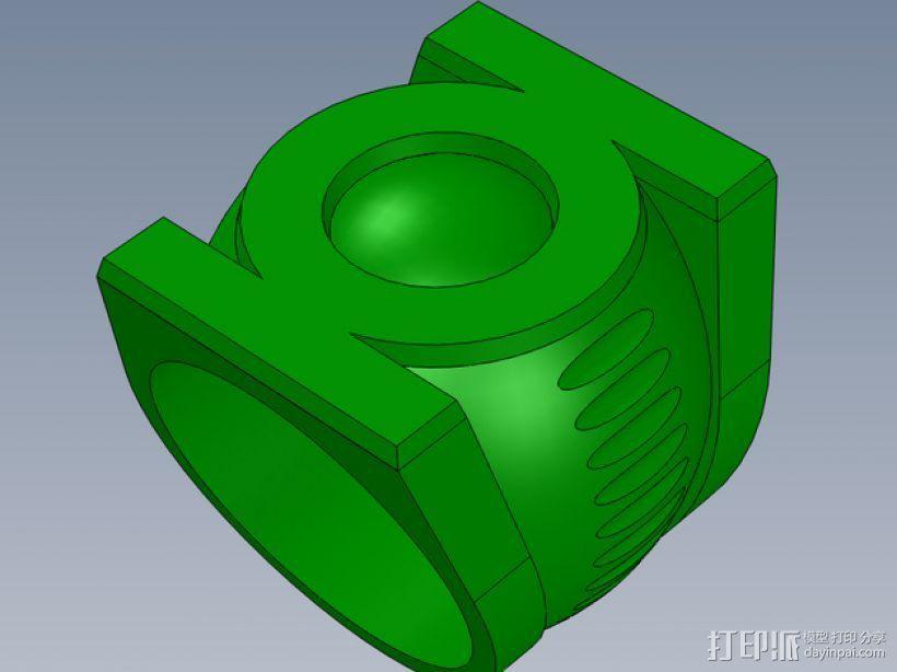 绿灯军团戒指 3D打印模型渲染图