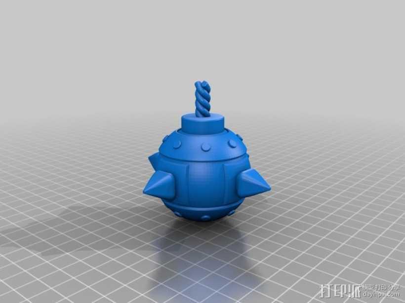 部落冲突 炸弹 3D打印模型渲染图