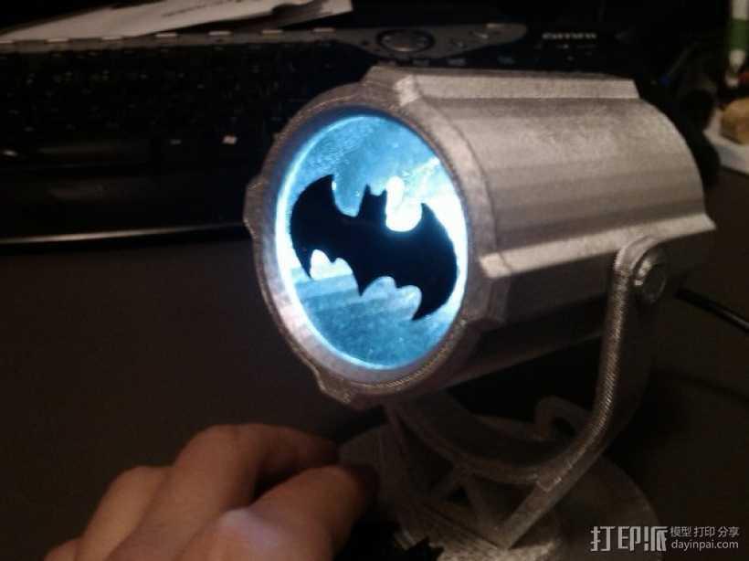 蝙蝠投影  3D打印模型渲染图