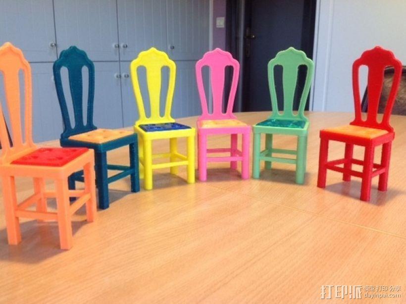 芭比娃娃的椅子 3D打印模型渲染图