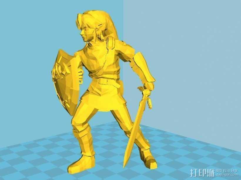 林克 塞尔达传说 3D打印模型渲染图