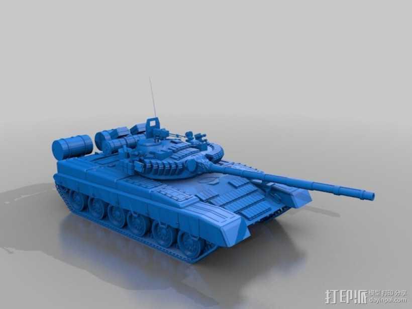 T-80坦克 3D打印模型渲染图