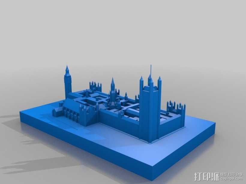 威斯特敏斯特宫 3D打印模型渲染图